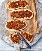 Lahmacun – Turkish minced meat 'pizza'