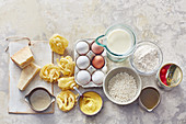 Basic store cupboard ingredients