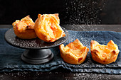 Fruity puff pastry tartlets with tinned mandarins