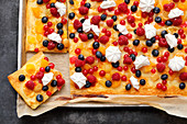 Fruity berry pizza
