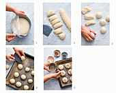 Quick breakfast rolls being made