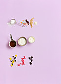 Ingredients for quick baking decorations