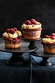 Donauwellen cupcakes (German marble cake)