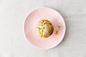 A vegan mango muffin