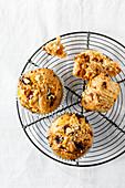 Vegan pumpkin muffins with walnuts
