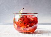 Preserved strawberries