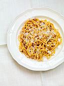 Tomato pasta with parmesan