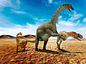 Abelisaurus, illustration
