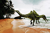 Ichthyovenator dinosaur, illustration