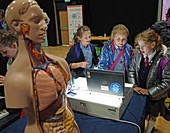 Children at a science fair