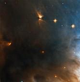 Reflection nebula, Hubble image