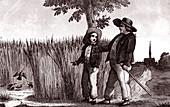 The Lark and the Landlord, allegorical illustration