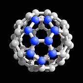 Buckyball C60 molecule, illustration