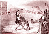 Dog of Montargis, 19th century illustration