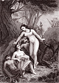 Scene from Voltaire's Candide, 19th century illustration