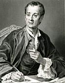 Denis Diderot, French encyclopedist, illustration