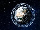 Satellite megaconstellations, conceptual illustration