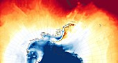 Antarctic heat wave, composite image