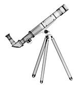 Child's telescope, X-ray