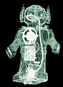Circa 1980s robot that smokes, X-ray
