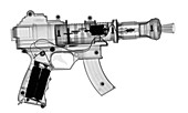 Toy gun with sound and light, X-ray