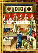 Wedding feast at Cana, illustration