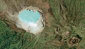 Kawah Ijen volcano, Indonesia, satellite image