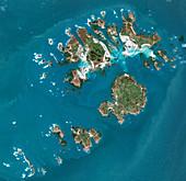 Isles of Scilly, UK, satellite image