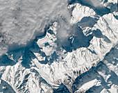 Mont Blanc, France, satellite image