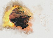 End of the world, conceptual illustration