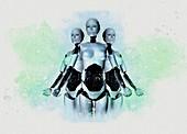 Humanoid robots, illustration