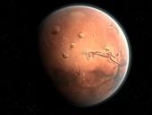 Mars: Tharis and Valles Marineris