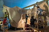 Constructing replica of the Chauvet Cave, France