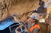 Chauvet Cave replica construction, France