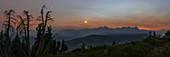 Venus over mountain peaks