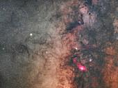 Milky Way and Lagoon nebula