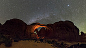 Night sky over Arches National Park, Utah, USA