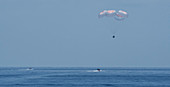 SpaceX Demo-2 parachuting back to Earth