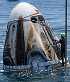 SpaceX Demo-2 Crew Dragon capsule recovery