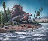 Dimetrodon synapsid, illustration