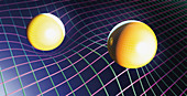 Curvature of spacetime, illustration