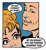Anti-masker, illustration