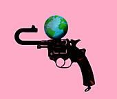Climate change, conceptual illustration