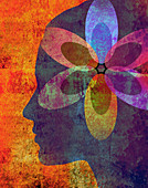 Mindfulness, conceptual illustration
