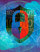 Internet security, conceptual illustration