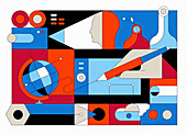 Creativity, conceptual illustration