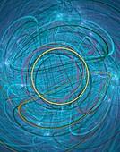 Quantum entanglement fractal illustration