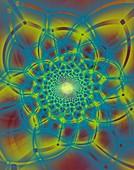 Irregular matrices fractal illustration.