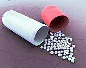 Antihistamine capsule, SEM