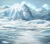 Ordovician mass extinction, illustration